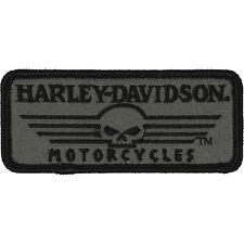 """Harley-Davidson Patches, Emblème """"LINÉAIRE Skull"""" Patch Skull EM027751 petit"""