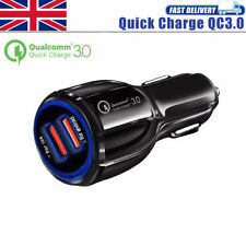Universal In-Car Quick Charge QC 3.0 USB 2 Ports Qualcomm Fast Charger Adapter
