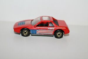 1984 Hot Wheels The Hot Ones PONTIAC FIERO ~ Red ~ Malaysia ~ Excellent