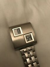 Rare Kenneth Cole Digital Watch Stainless Steel Gents LED