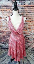 Carmon Marc Valvo Collection Sleeveless Pink Paisley 100% SILK Casual Dress Sz 6