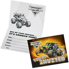 Monster Trucks Birthday Party Supplies Pack of 8 Invitations Invites
