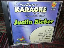 CHARTBUSTER KARAOKE: JUSTIN BIEBER BY KARAOKE MUSIC CD, 12 TOTAL TRACKS, GUC