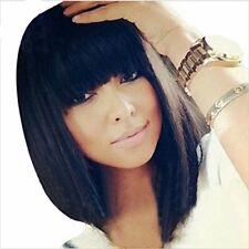 "10"" Short Straight Human Hair Wigs For Black Women Best Brazilian Remy Full Wigs"