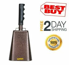 New Steel Cowbell with Handle Cheering Bell Chimes Percussion - 10 Inch