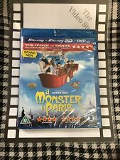 A Monster In Paris (3D Blu-ray, 2012, 3-Disc Set) BRAND NEW