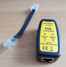 Kauden PoE Power over Ethernet Tester RJ45 + Dongle Lead 1st CLASS +High Quality