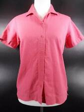Beautiful Women's Small Woolrich Pink Watermelon Textured Fitted Button Blouse