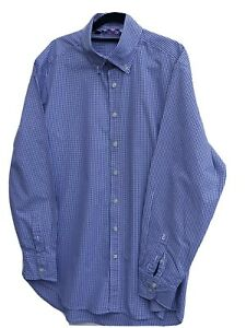 """Immaculate BODEN Men's Micro Checked Long Sleeve Shirt size Large Fit Chest 44"""""""