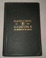Copyright 1901,Bible, Hardcover, Placed In this Hotel By The Gideons,1st Edition