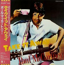 "PAUL MCCARTNEY ""Take It Away"" MINT/Mint JAPAN Archive Master Yellow Wax w/OBI"