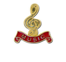 Music Treble Clef School Gold Badge