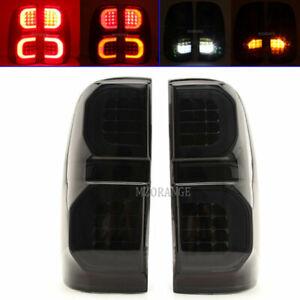 2x Smoked Black LED Rear Tail Light Lamp For Toyota Hilux Vigo KUN GGN 2005-2015