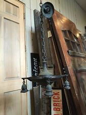 Lt 14 One 4 Arm Brass Chandelier As Found