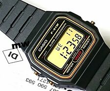 Casio F-91WG-9 Black Rubber Retro Digital Quartz Unisex Watch Men's Ladies F91W