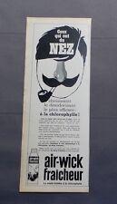 PUB PUBLICITE ANCIENNE ADVERT CLIPPING 240617 / BOMBE A LA CLOROPHYLLE AIR-WICK