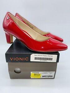 Vionic Women's Mia Patent Faux Leather Pump - Cherry US 7M / EUR 38