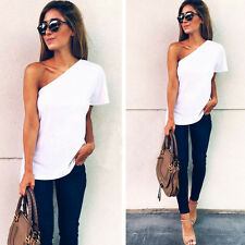 Fashion Women Summer Casual Cotton Blouse Short Sleeve Shirt shirt Blouse Top 1L