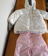 NEW Carter's 12m Snowsuit snow suit pants coat pink white mittens jacket