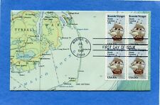 SC #2093 Roanoke Voyages KMC Map Cachet First Day Cover