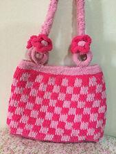 Japan Handmade Women Handbag Shoulder Bags Checked Pattern Bag Pink Color