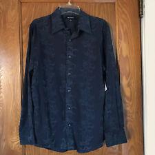Brandini Casual Long Sleeve Blue Dress Shirt M