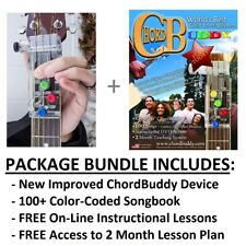 Chordbuddy Guitar Learning System - New Device, 100+ Songbook, Instruction, More