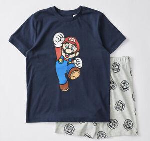 Boys size 16 SUPER MARIO summer pyjamas pjs COTTON sleepwear  NEW