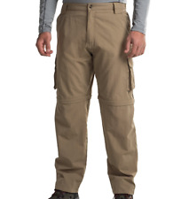 NEW DAKOTA GRIZZLY CONVERTIBLE PANTS /SHORTS MENS L TAN SUPPLEX ZIP OFF PANT