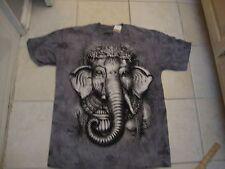 RAINFOREST CAFE Elephant The Mountain Tye dye gray NEW T shirt Men's size S