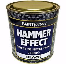 Noir martelé peinture 750ml CANETTE direct pour métal intérieur extérieur usine
