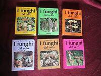 Serie Di 6 Libri I Funghi Dal Vero-Editions Saturnia-Bruno Cetto-Champignons
