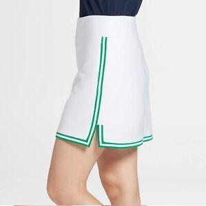 "Lady Hagen Women's 2XL Ribbed 15"" Golf Skort Skirt White 38""-40""W WGH17244 NEW"