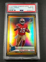 DEEBO SAMUEL 2019 PANINI DONRUSS OPTIC #167 ORANGE PRIZM ROOKIE RC /199 PSA 10