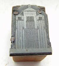 Vintage Letterpress Printing Printers Block Strange Tall Building