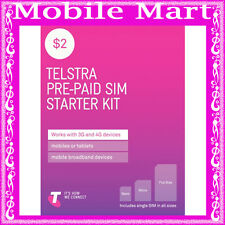 Telstra◉$2 Prepaid SIM CARD TRI-CUT◉0 Credit◉Call Text Net◉FULL SIZE MICRO NANO◉