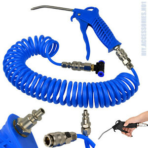 Air Duster Blow Gun 5m Recoil Hose Pipe Car Truck Lorry Dust Blower Cleaning Set