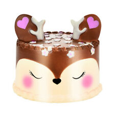 Soft Slow Rising Deer Cake Jumbo Cartoon Scented Squeeze Toy Pressure Relief USA