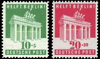 EBS Germany 1948 Allied Occupation Bizone Help Berlin Michel 101-102 MNH** $25