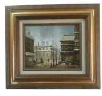 French Impressionist Oil Painting by: BURNETT of PARIS STREET SCENE