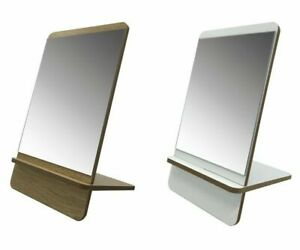 BLUE CANYON SLIM STYLE FREE STANDING WOODEN BASE SHAVING MAKE UP TABLE MIRROR
