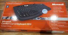 Microsoft Comfort Curve 2000 Keyboard Wired USB Model 1047 Open Box