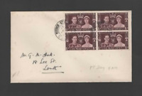 GB 1937 KGVI CORONATION BLOCK OF 4 FIRST FIRST DAY COVER