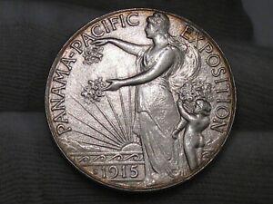 BU 1915-s Pan-Pacific Exposition US Commemorative Half Dollar - Nice!  #56