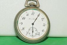 "ILLINOIS ""A. LINCOLN"" 21 JEWEL 16 SIZE RUNNING POCKET WATCH"