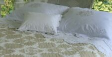 """JUDI BOISSON """"Savannah"""" Top Coverlet with Emblem Queen size and shams"""