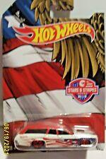 2015 Hot Wheels 6/10 Stars & Stripes Series '71 PLYMOUTH SATELLITE White wRed5sp