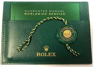 ROLEX ** FIVE YEAR ** WARRANTY SET : holder, booklet & swing-tag (2015-2020).