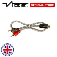 VIBE Critical Link Car Audio Twisted Core 2F to 1M RCA Splitter Y Lead 2F1M