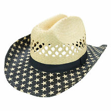 Americana Stars Cowboy Hat Patriotic Country Concert  Festival Accessory Navy